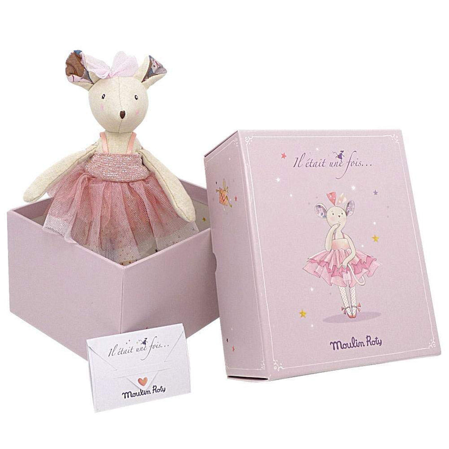 Moulin Roty il Etait Une Fois - Prima Ballerina Mouse Doll-Moulin Roty-Joanna's Cuties