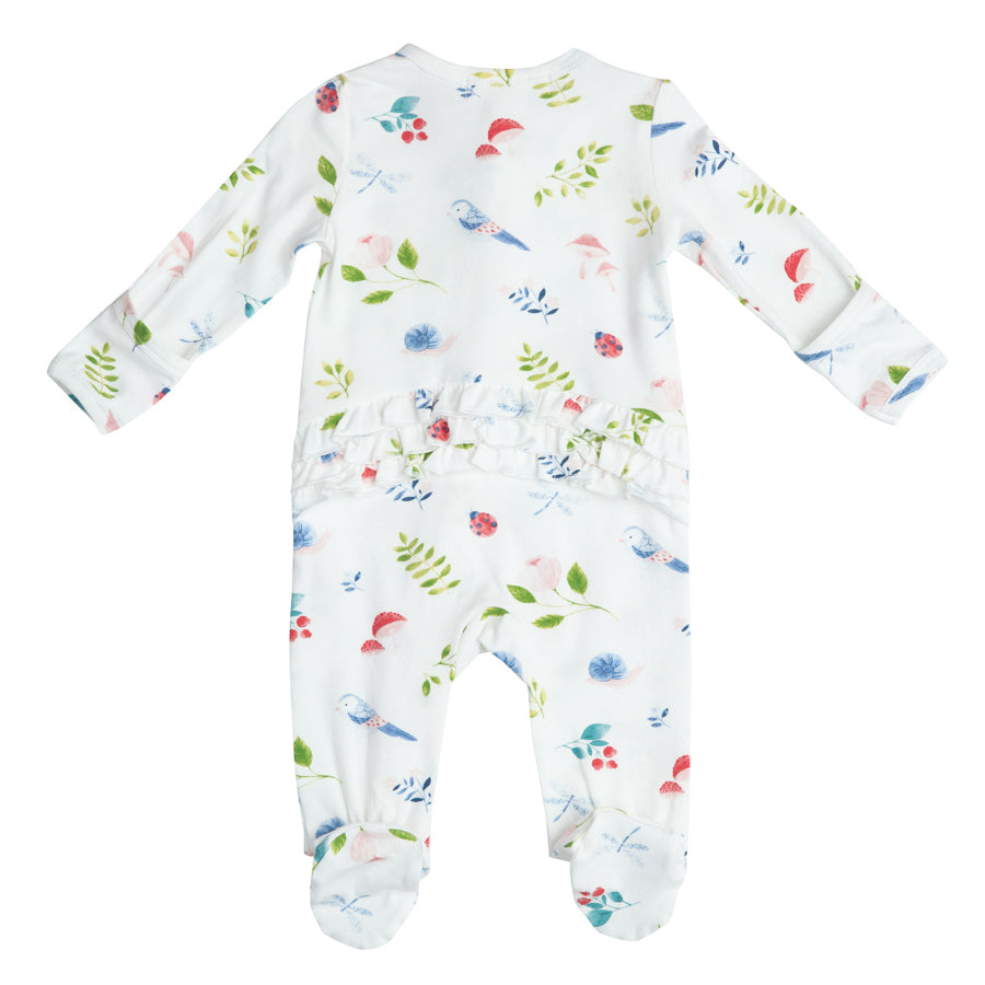 Natures Notebook Zipper Ruffle Footie-Angel Dear-Joanna's Cuties
