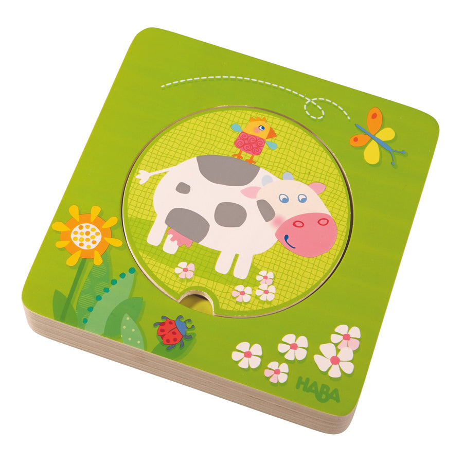 On the Farm Wooden Puzzle-Haba-Joanna's Cuties