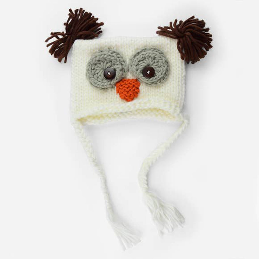 Otis Owl Knit Hat - White - The Blueberry Hill - joannas-cuties