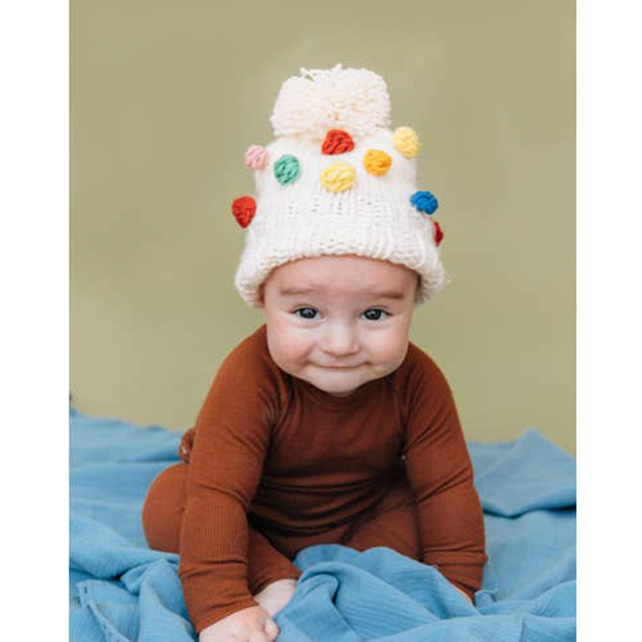Percy Rainbow Dot Beanie - The Blueberry Hill - joannas-cuties