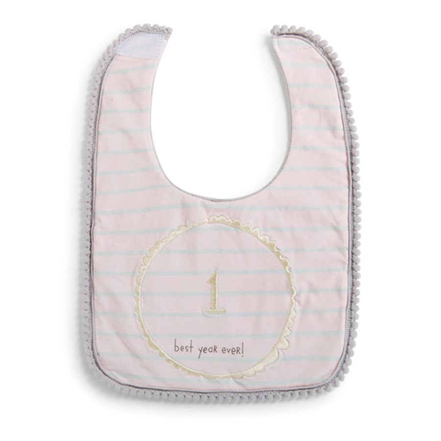 Pink Best Year Ever 1st Birthday Bib-Demdaco-Joanna's Cuties