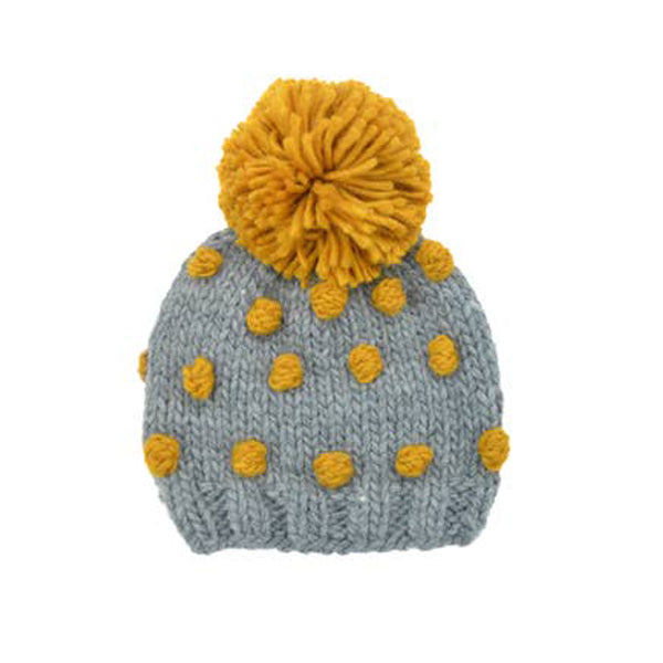 Popcorn Hat - Grey and Mustard-The Blueberry Hill-Joanna's Cuties