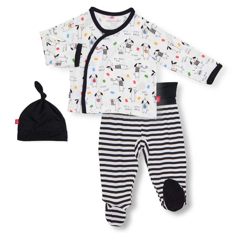 Raise The Woof Modal Magnetic 3-Piece Kimono Set-Magnetic Me-Joanna's Cuties