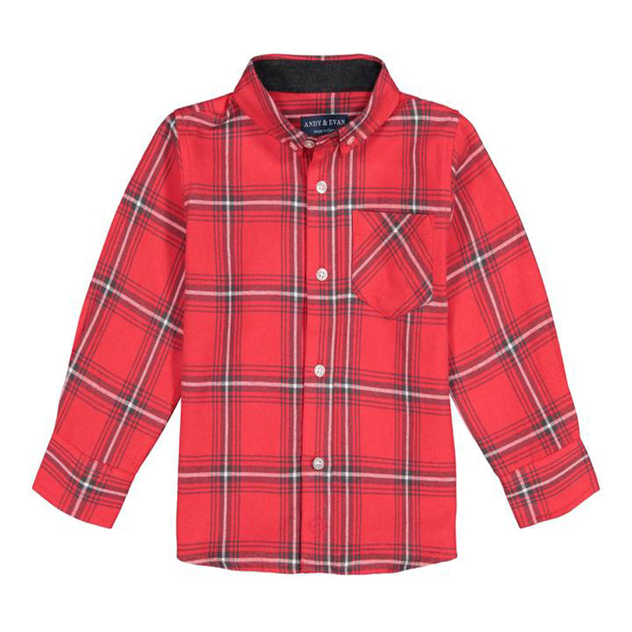Red Plaid Button-down