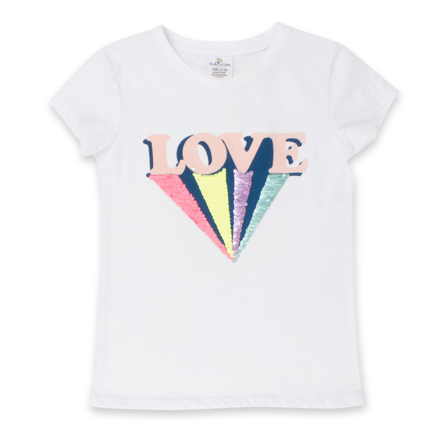 Reversible Sequin Love T-Shirt - Shade Critters - joannas-cuties