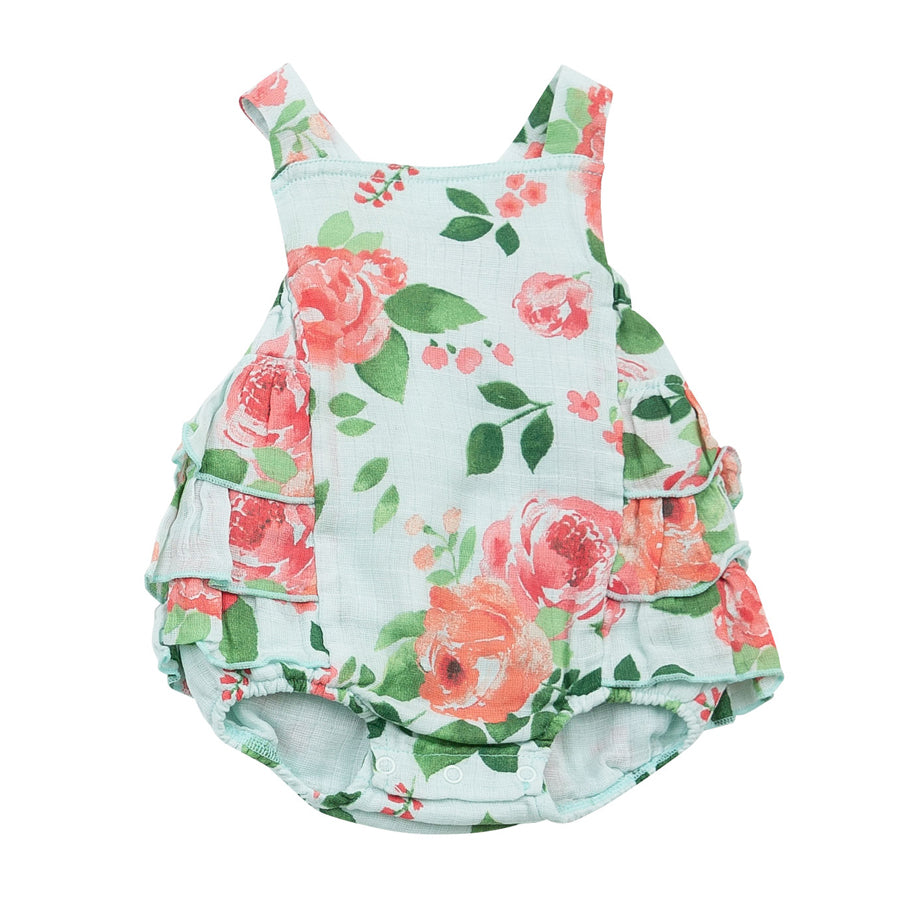 Rose Garden Ruffle Sunsuit-Angel Dear-Joanna's Cuties