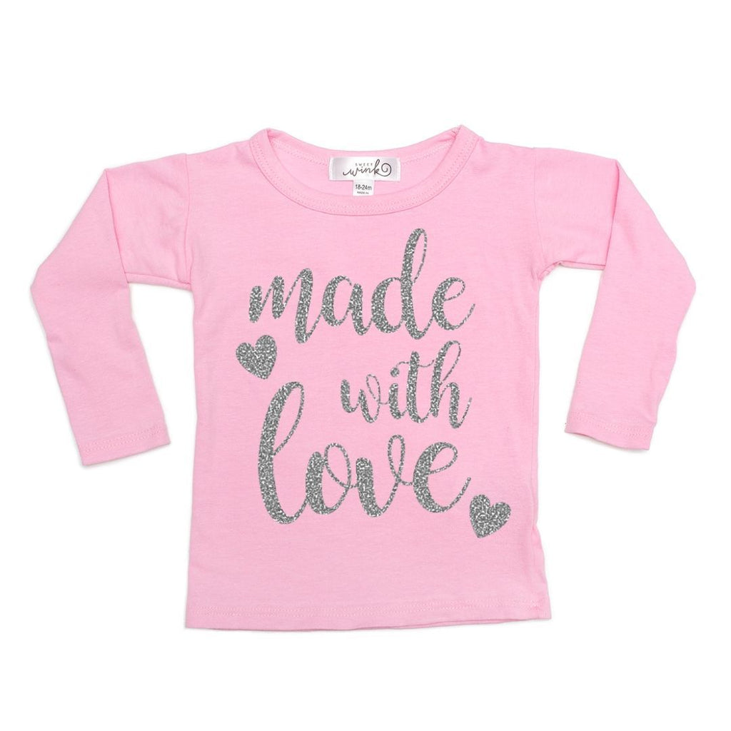 Made With Love Shirt-Sweet Wink-Joanna's Cuties