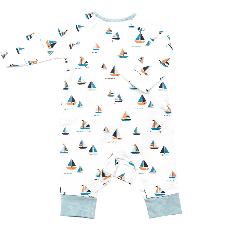 Simple Boats Wrap Coverall-Angel Dear-Joanna's Cuties