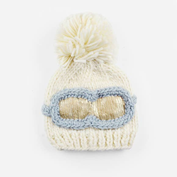 Ski Goggles Beanie- Cream - The Blueberry Hill - joannas-cuties