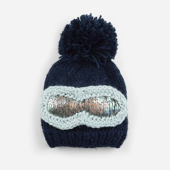 Ski Goggles Beanie - Navy - The Blueberry Hill - joannas-cuties
