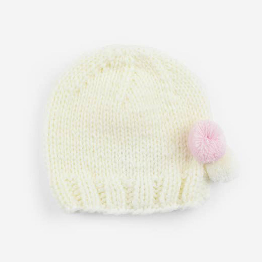 Tiny Poms Knit Hat - Pink-The Blueberry Hill-Joanna's Cuties