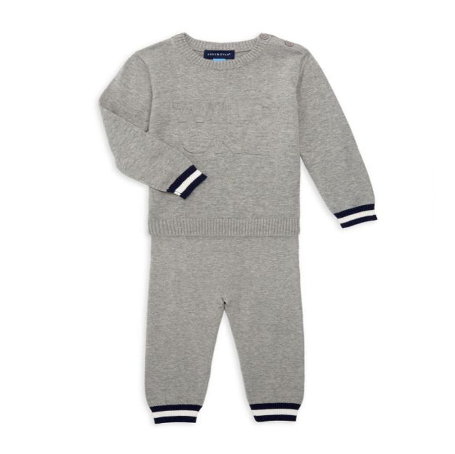 2 Piece Sweater Set - Grey-Andy & Evan-Joanna's Cuties