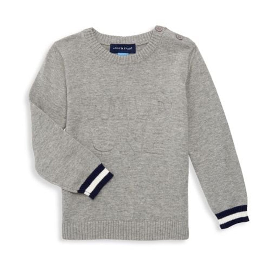 2 Piece Sweater Set - Grey - Andy & Evan - joannas-cuties