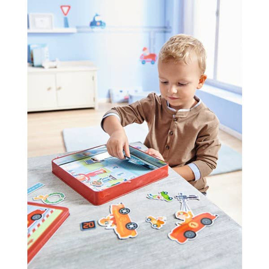 Zippy Cars Magnetic Game-Haba-Joanna's Cuties