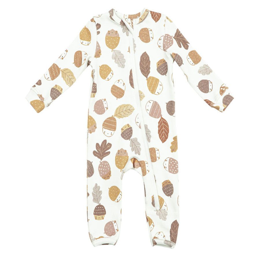 Zipper Romper - Acorns-Angel Dear-Joanna's Cuties
