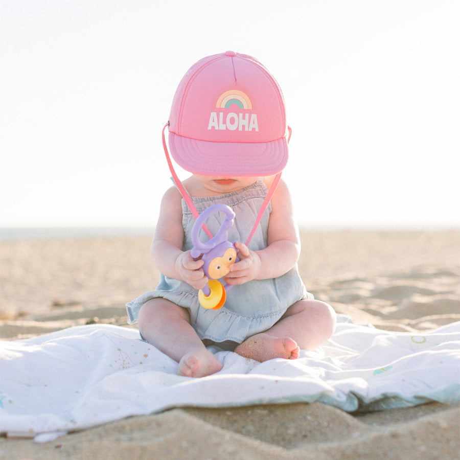 Aloha Rainbow - Trucker Hat / Sun Hat-Bitty Brah-Joanna's Cuties