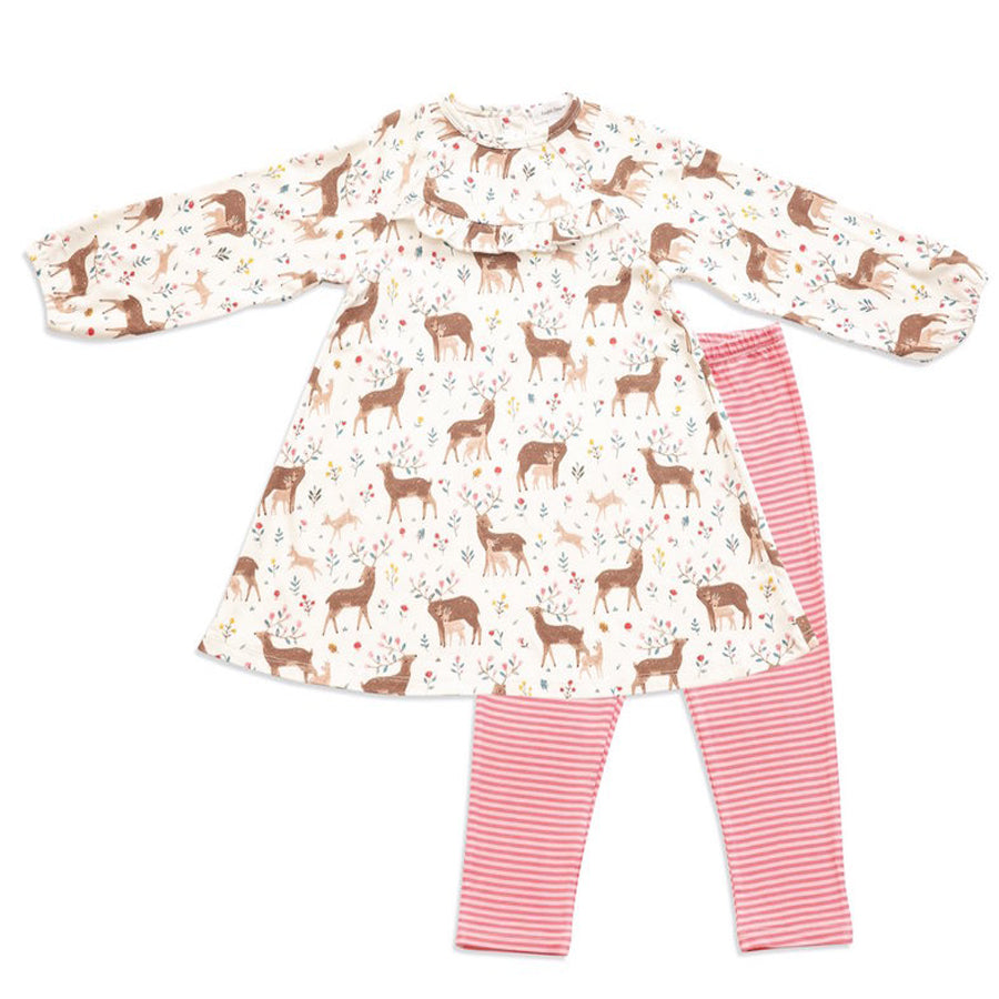 Little Deer Dress And legging Set - Angel Dear - joannas-cuties