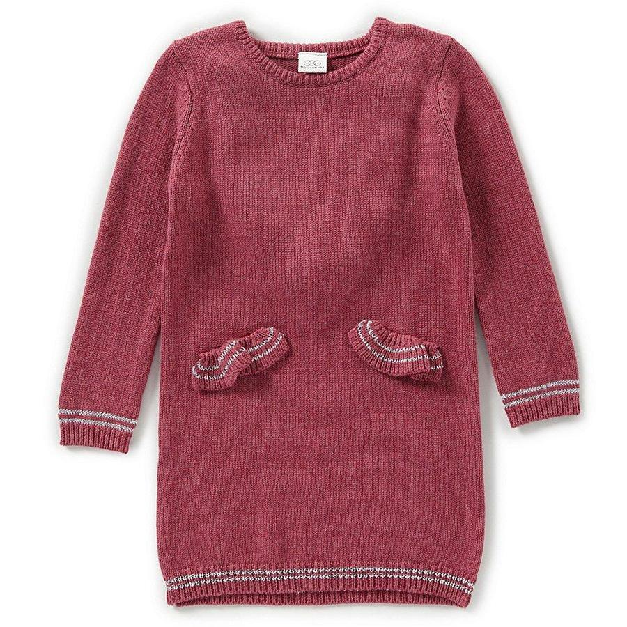 Angel Ruffle Pocket Sweater Dress - Rasberry - EGG by Susan Lazar - joannas-cuties