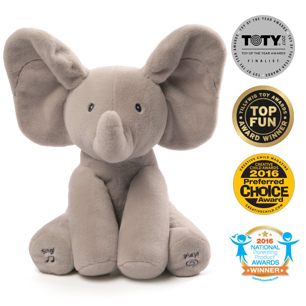 "Animated Flappy, 12"" Grey - Gund - joannas-cuties"