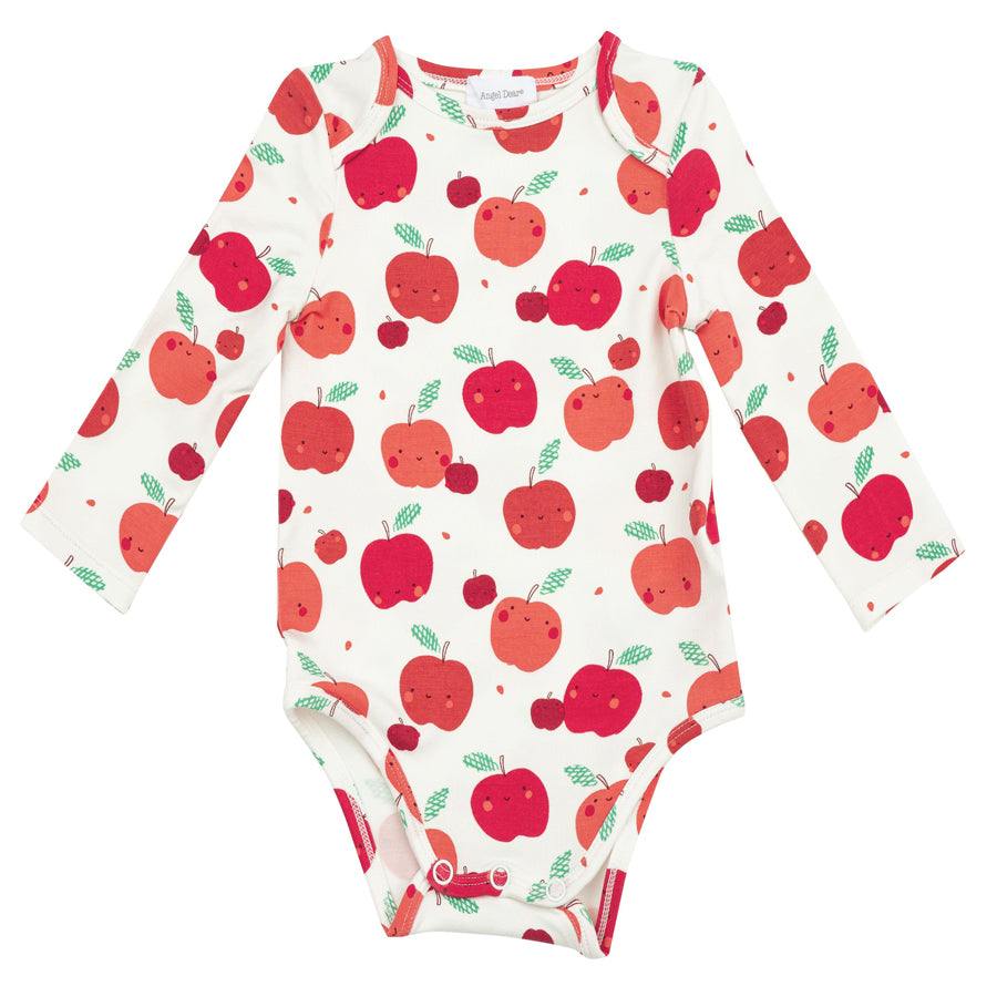 Apple Orchard Lap Shoulder Onsie-Angel Dear-Joanna's Cuties