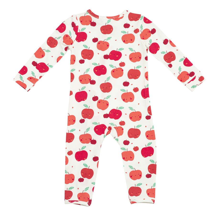 Apple Orchard Zipper Romper-Angel Dear-Joanna's Cuties