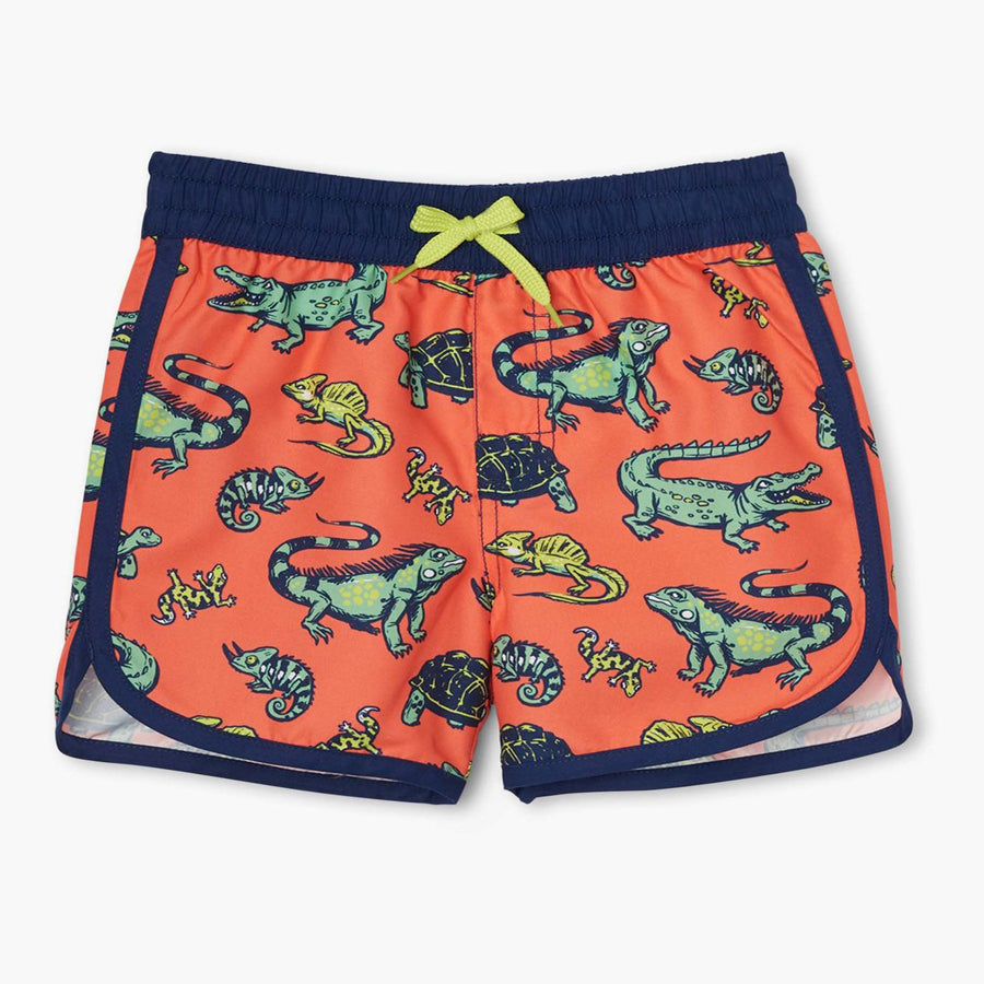 Aquatic Reptiles Swim Shorts-Hatley-Joanna's Cuties