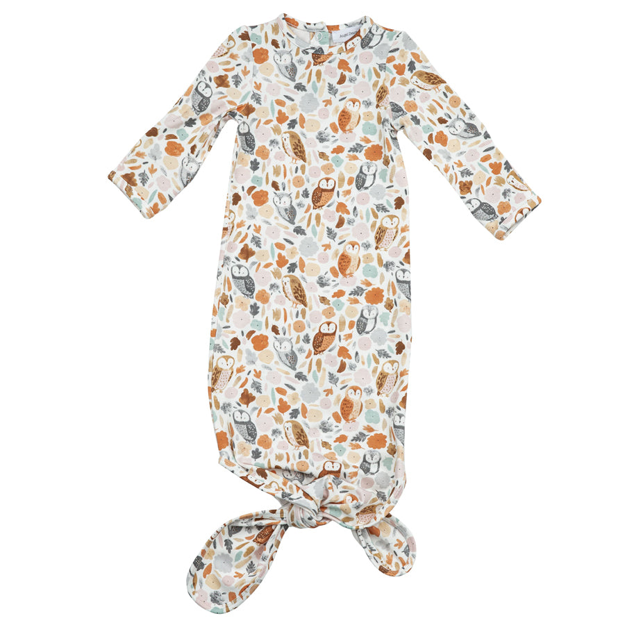 Autumn Owls Knotted Gown-Angel Dear-Joanna's Cuties