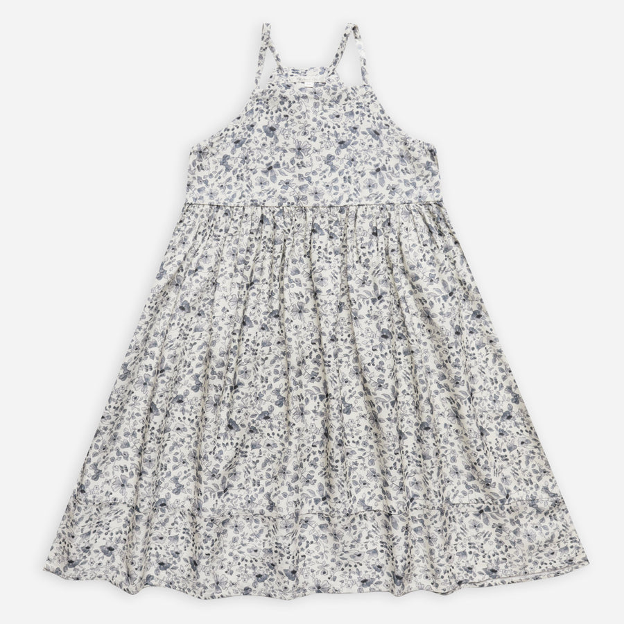 Ava Dress - Blue Floral-Rylee + Cru-Joanna's Cuties