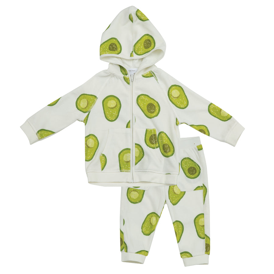 Avocado Hoodie And Jogger Set-Angel Dear-Joanna's Cuties