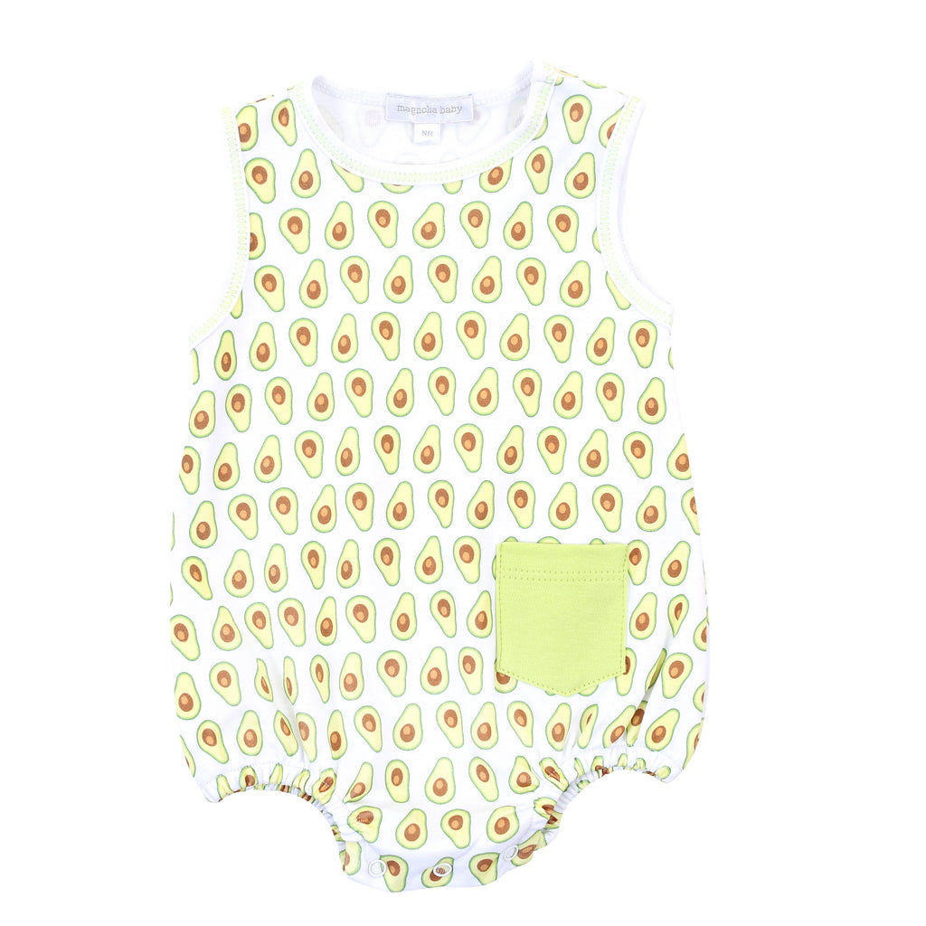 Avocados Celery Printed Sleeveless Bubble - Magnolia Baby - joannas-cuties