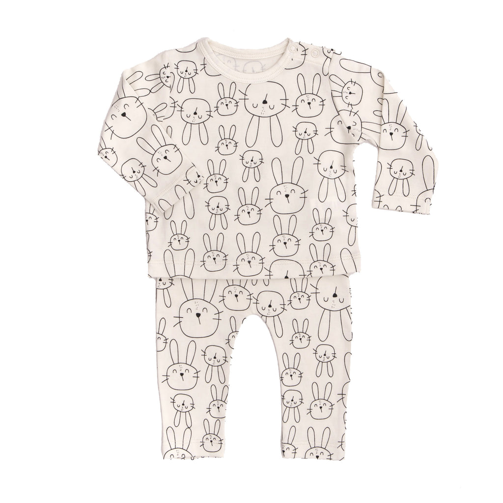Baby 2 pc Set Bunny - Cream-Tun Tun-joannas_cuties
