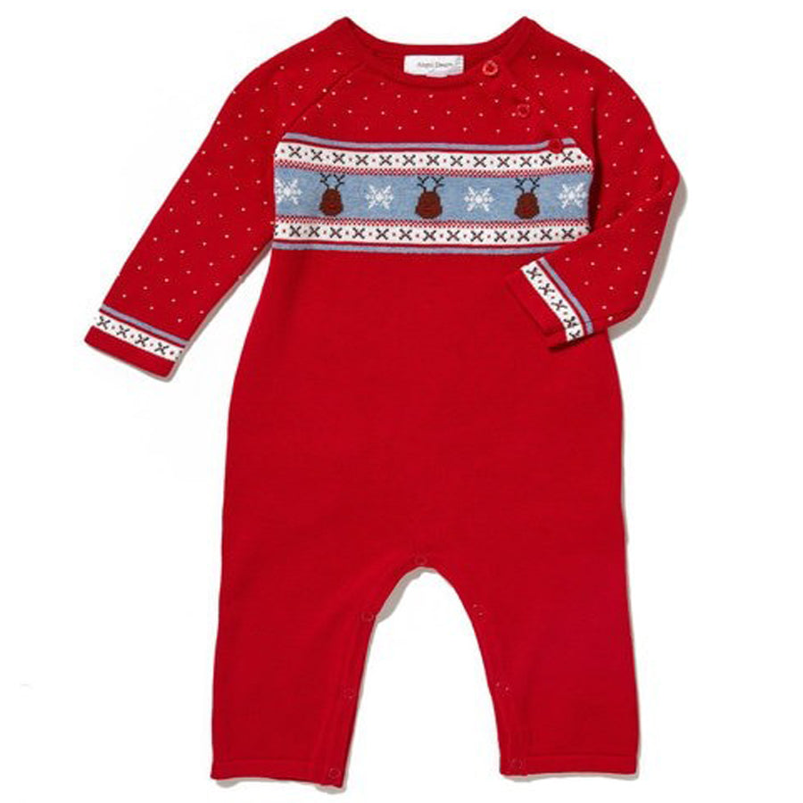 Reindeer Fair Isle Coverall - Angel Dear - joannas-cuties