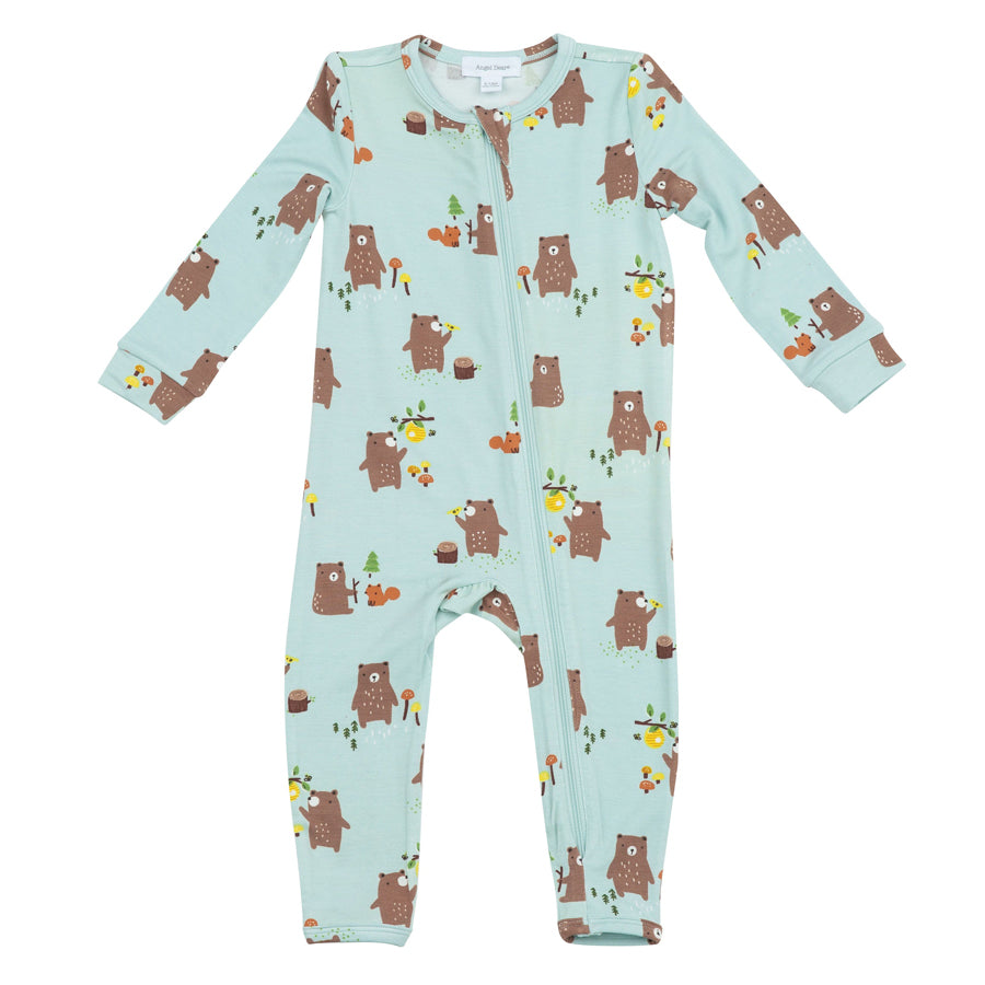 Baby Bears Zipper Romper-Angel Dear-Joanna's Cuties