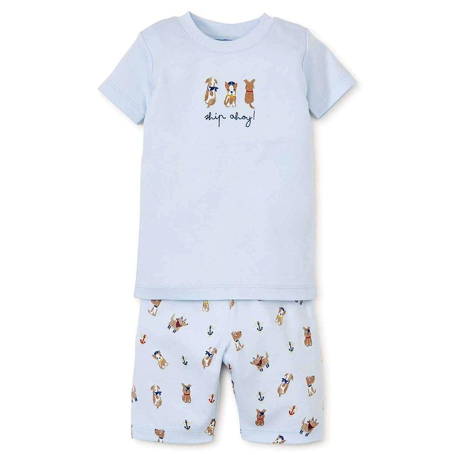 Baby-Boys Infant Salty Dogs Print Short Pajama Set - Kissy Kissy - joannas-cuties