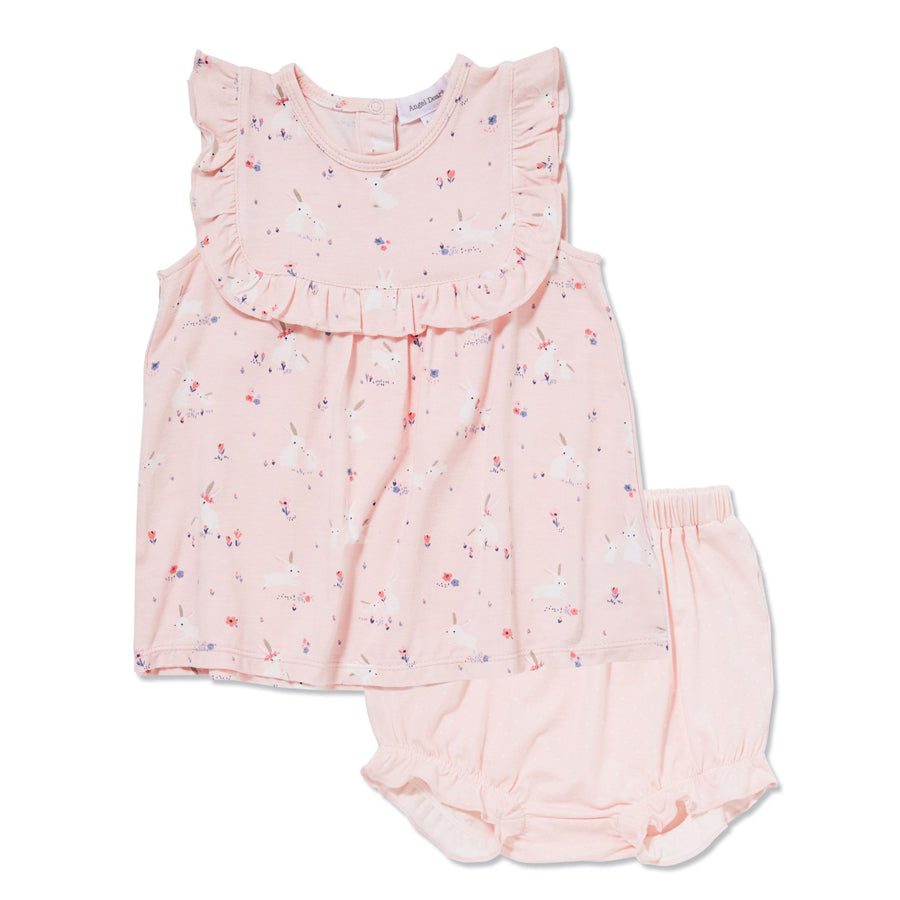 Baby Bunnies Ruffle Top & Bloomers-Angel Dear-Joanna's Cuties