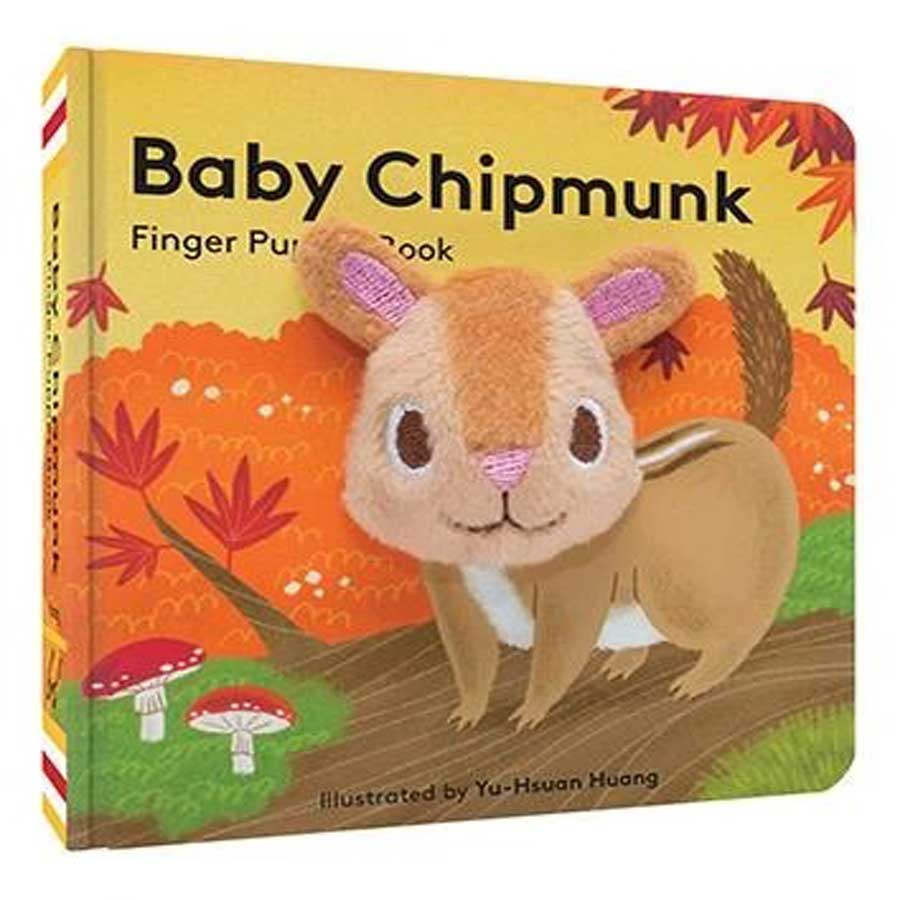 Baby Chipmunk - Finger Puppet Book-Chronicle Books-Joanna's Cuties