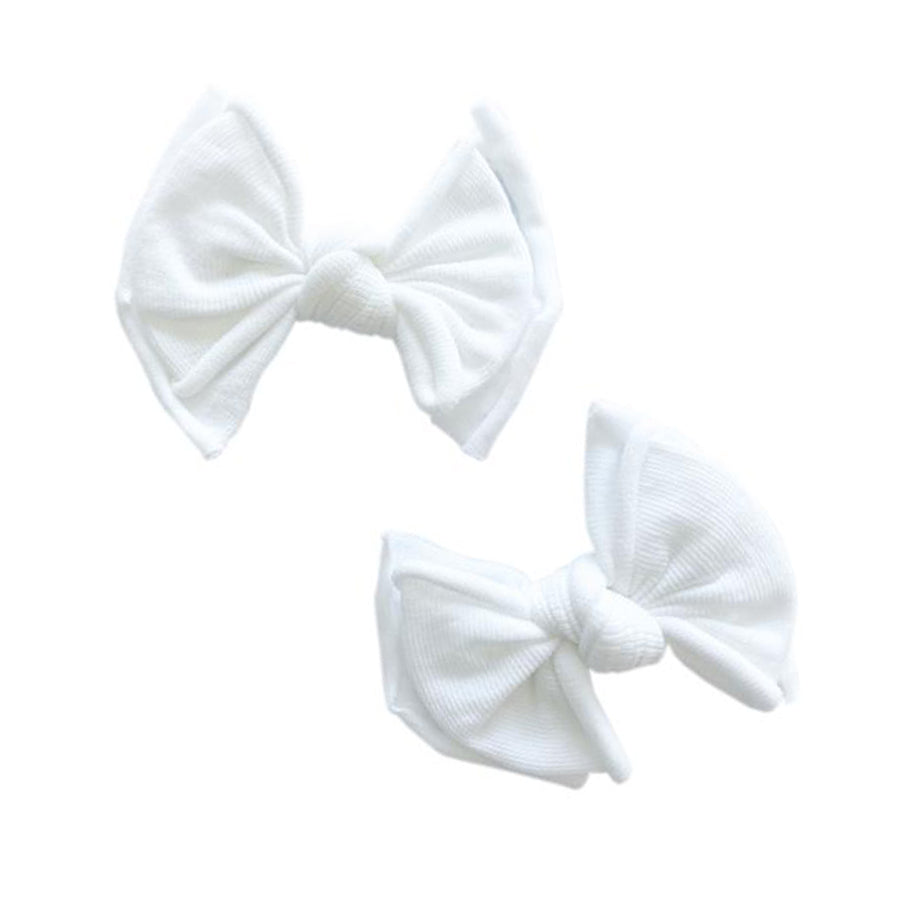 Baby Fab Hair Clip - White-Baby Bling-Joanna's Cuties