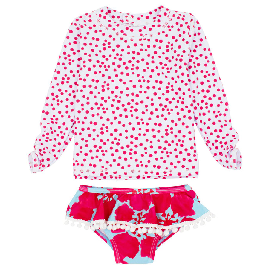 Baby Girl Sandy Toes 2-pc Ruffle Set