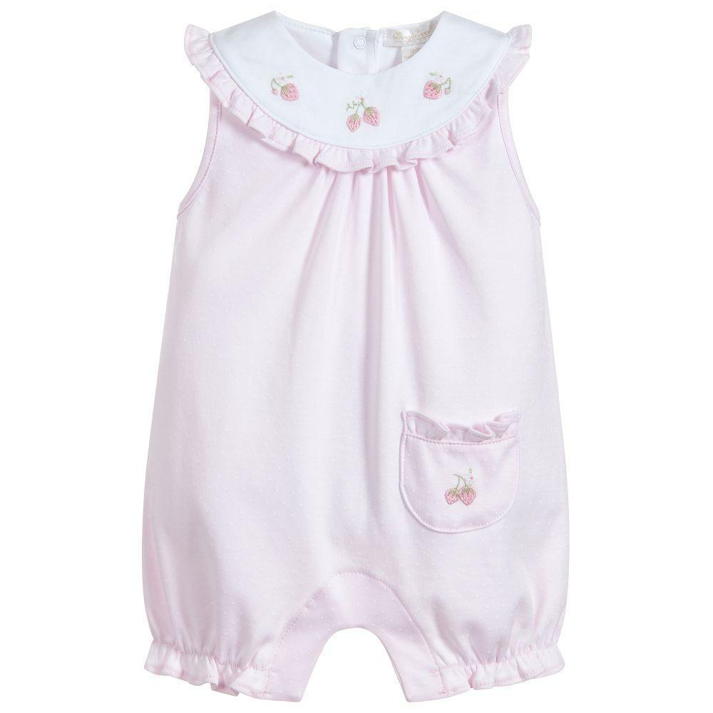 Baby Girls Pink Cotton Shortie-Kissy Kissy-joannas_cuties