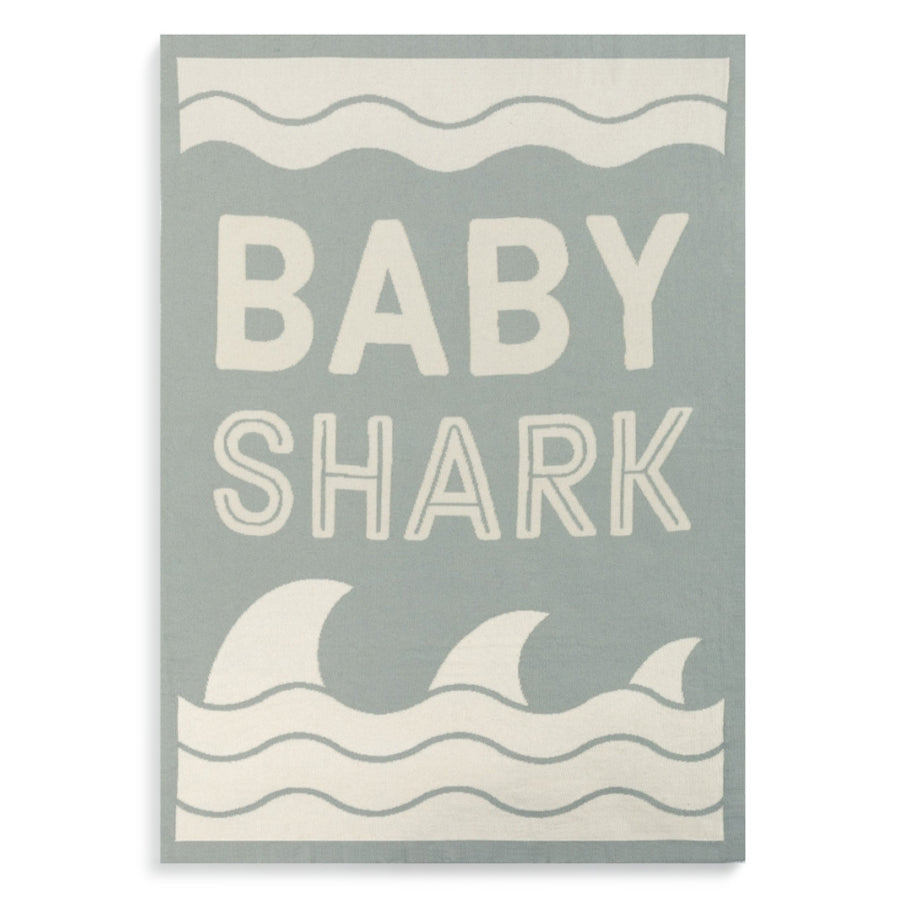 Baby Shark Woven Blanket - Nursery Keepsake-Demdaco-Joanna's Cuties