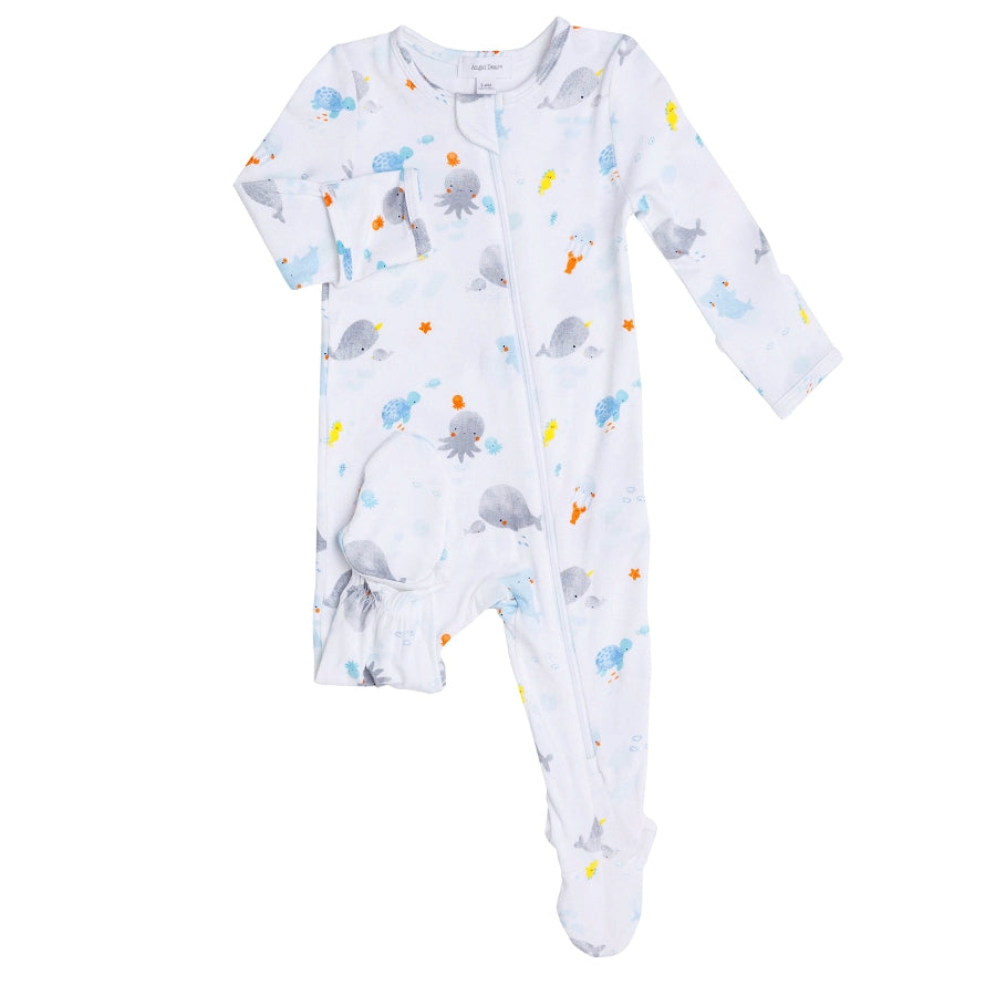 Baby Shark Zipper Footie