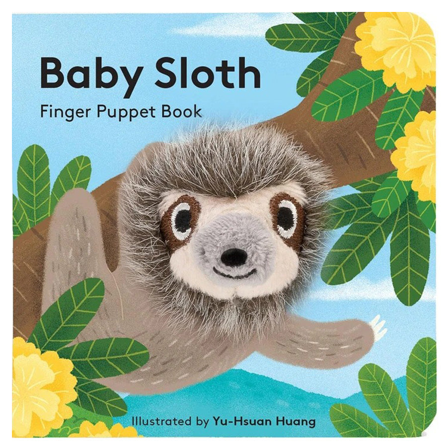 Baby Sloth - Finger Puppet Book-Chronicle Books-Joanna's Cuties
