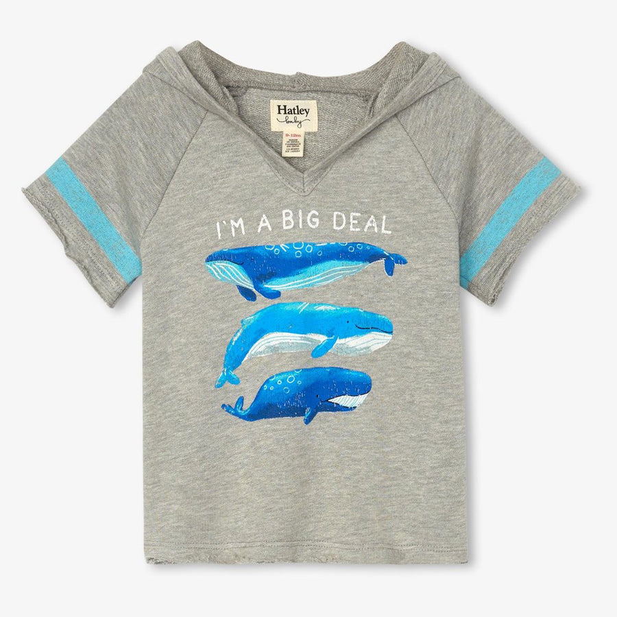 Blue Whales Baby Pullover Hoodie