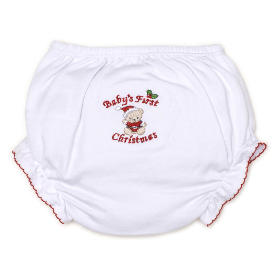 Baby's First Christmas Diaper Cover - Kissy Kissy - joannas-cuties