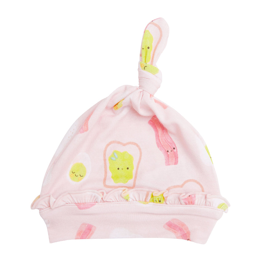 Bacon And Eggs Knotted Hat - Pink