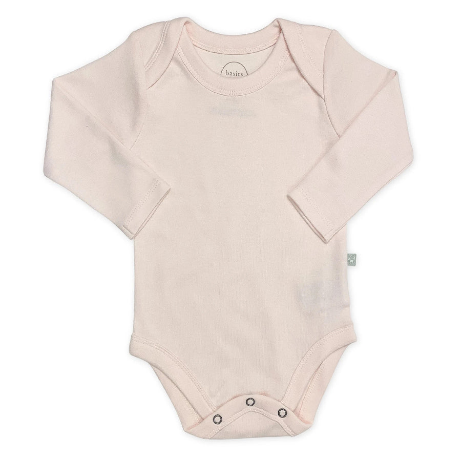 Basics Long Bodysuit - Pink-Finn + Emma-Joanna's Cuties