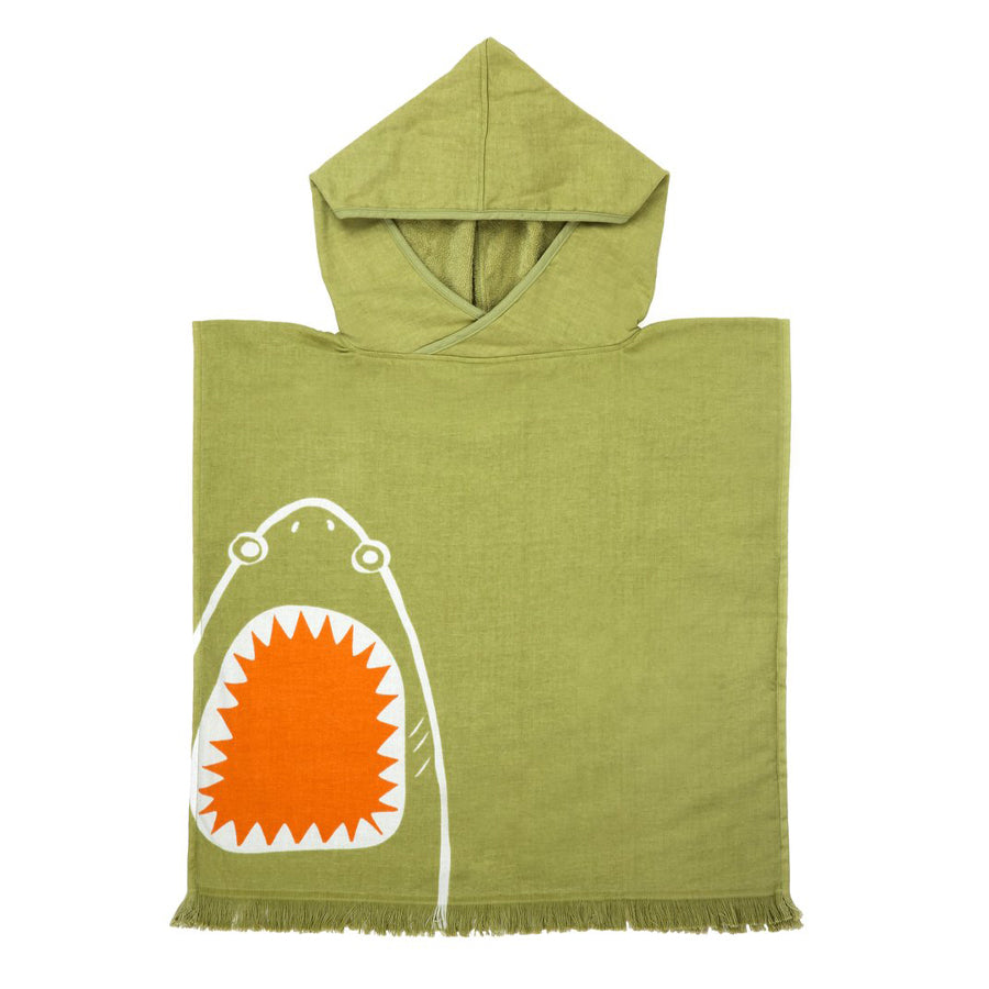 Beach Poncho - Shark Attack