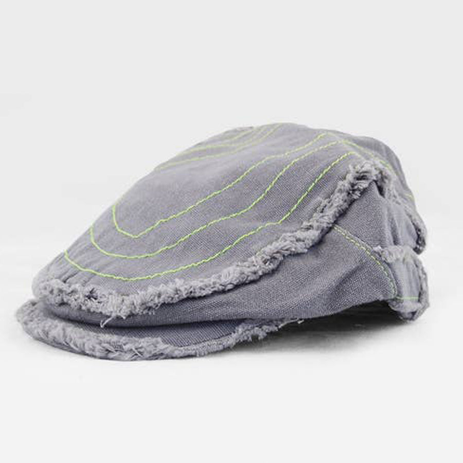 Beck Driving Cap | Canvas Kids & Baby Hat - Grey Green-The Blueberry Hill-Joanna's Cuties