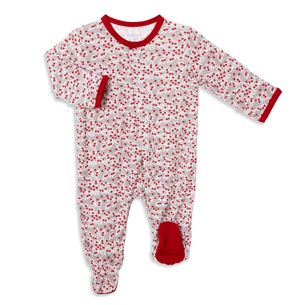 Berry Holly Day Modal Magnetic Footie - Magnetic Me - joannas-cuties